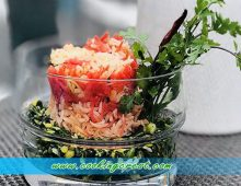 Keerai Masial with Carrot and Coconut Rice