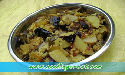 Potato Brinjal Varuval