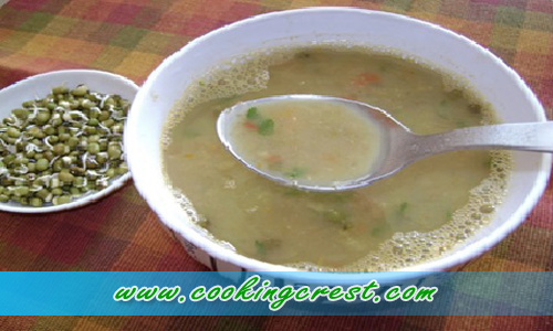 Protein Rich Sprouted Moong Dal Soup