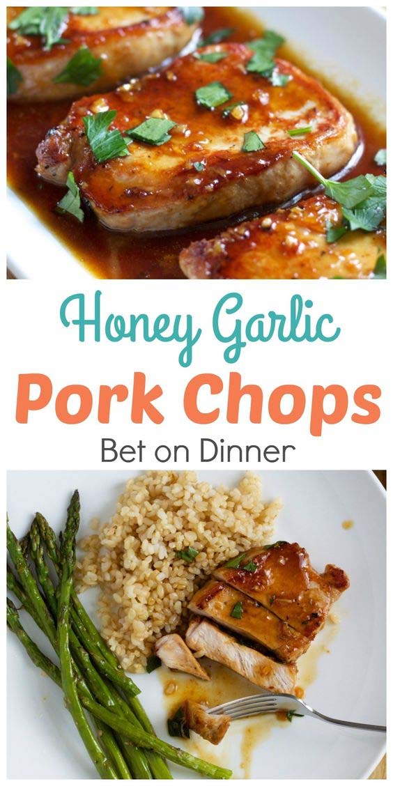 Horney Garlic Pork chops