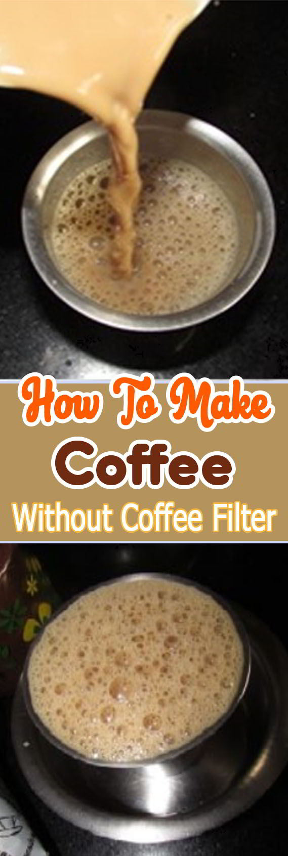 How to Make Coffee without coffee filter